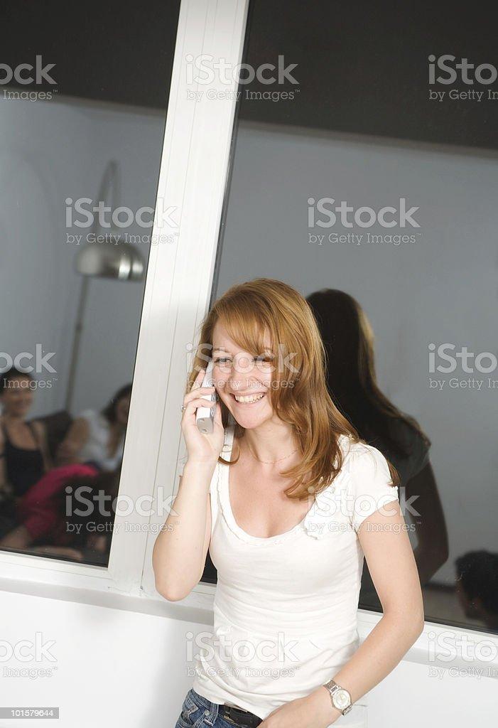 Fun on the phone. Plenty copy-space royalty-free stock photo