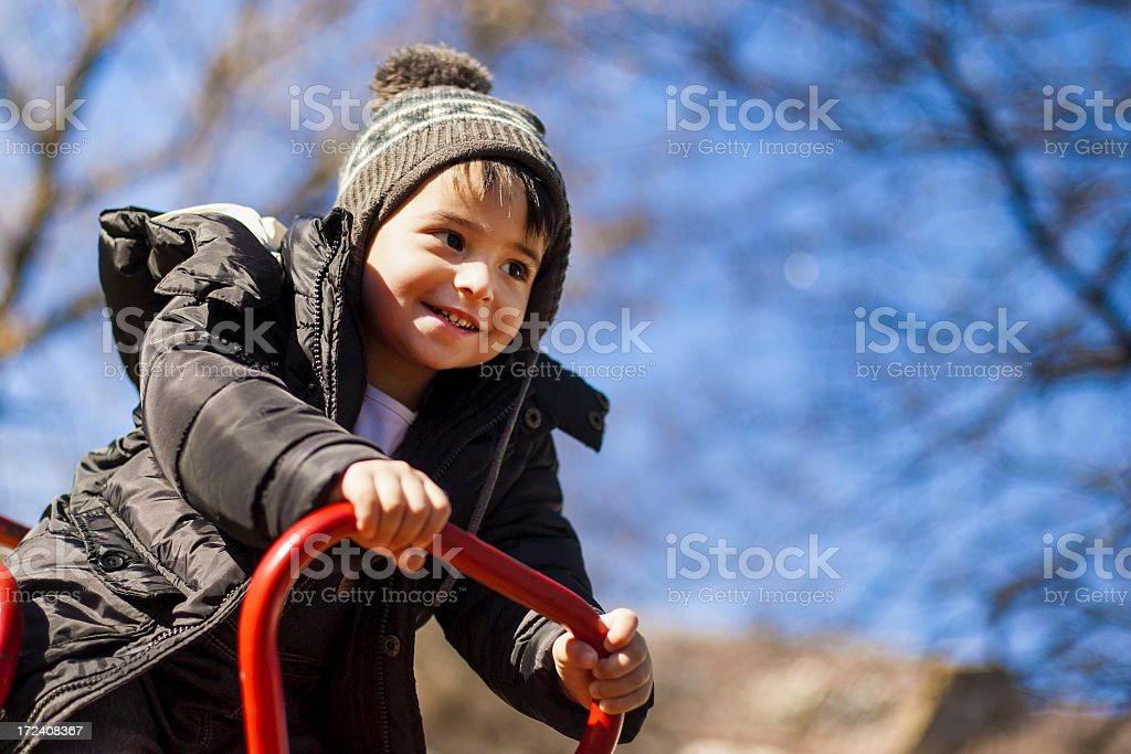 Fun on the seesaw royalty-free stock photo