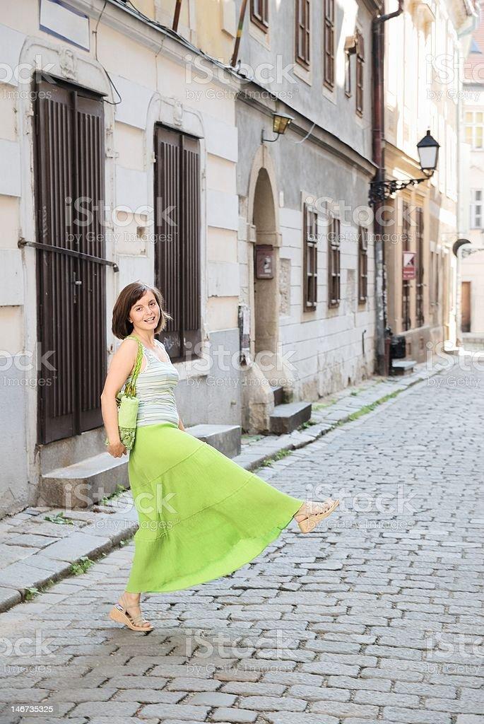Fun on the street royalty-free stock photo