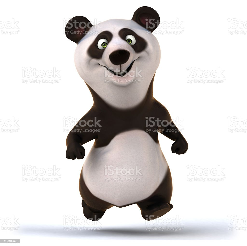 Fun panda stock photo