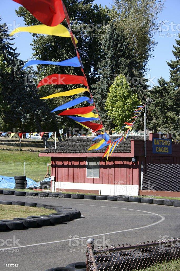 Fun park go cart racing track royalty-free stock photo