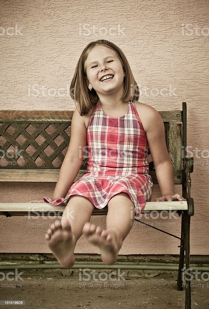 Fun - portrait of girl royalty-free stock photo