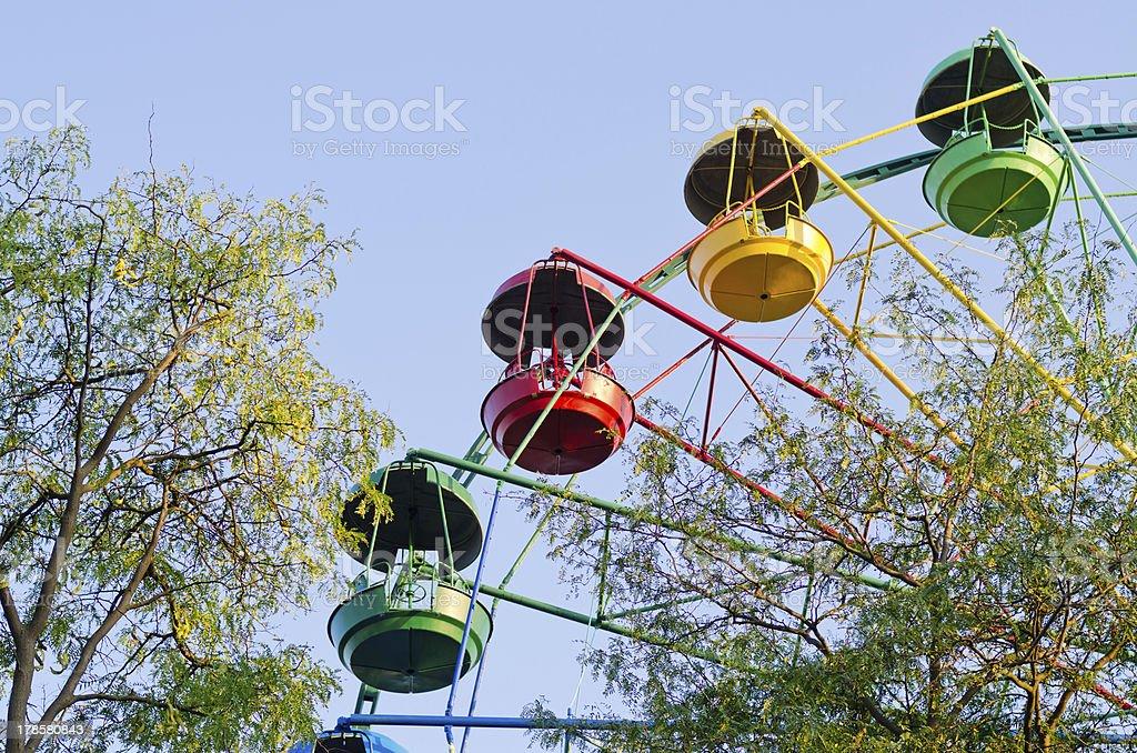 Fun ride at a fairground royalty-free stock photo