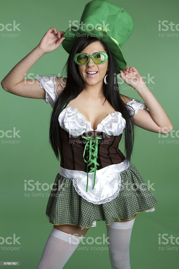 Fun Saint Patricks Girl royalty-free stock photo