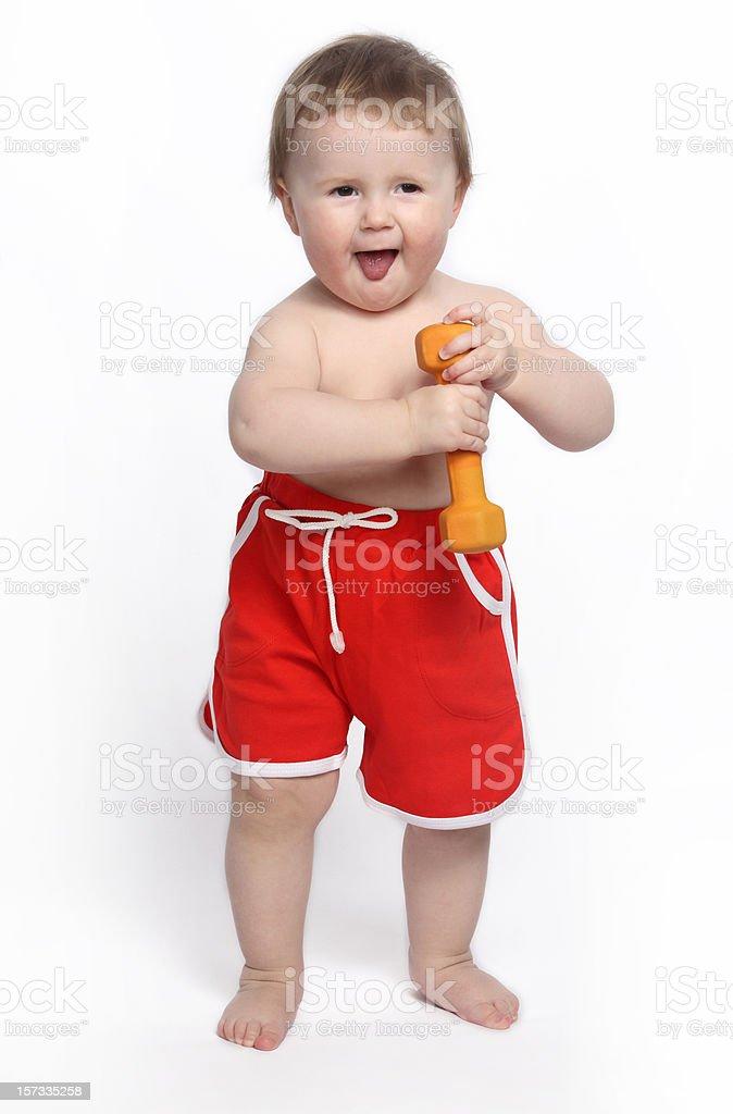 Fun smile baby royalty-free stock photo