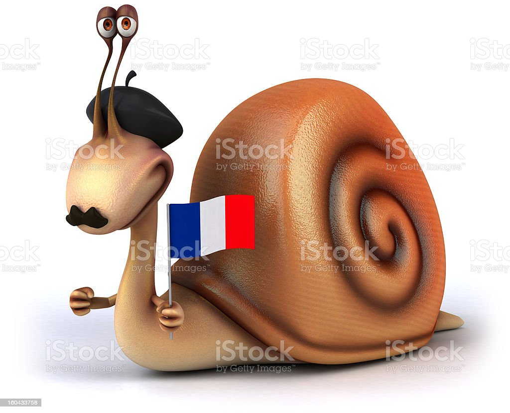 Fun snail royalty-free stock photo