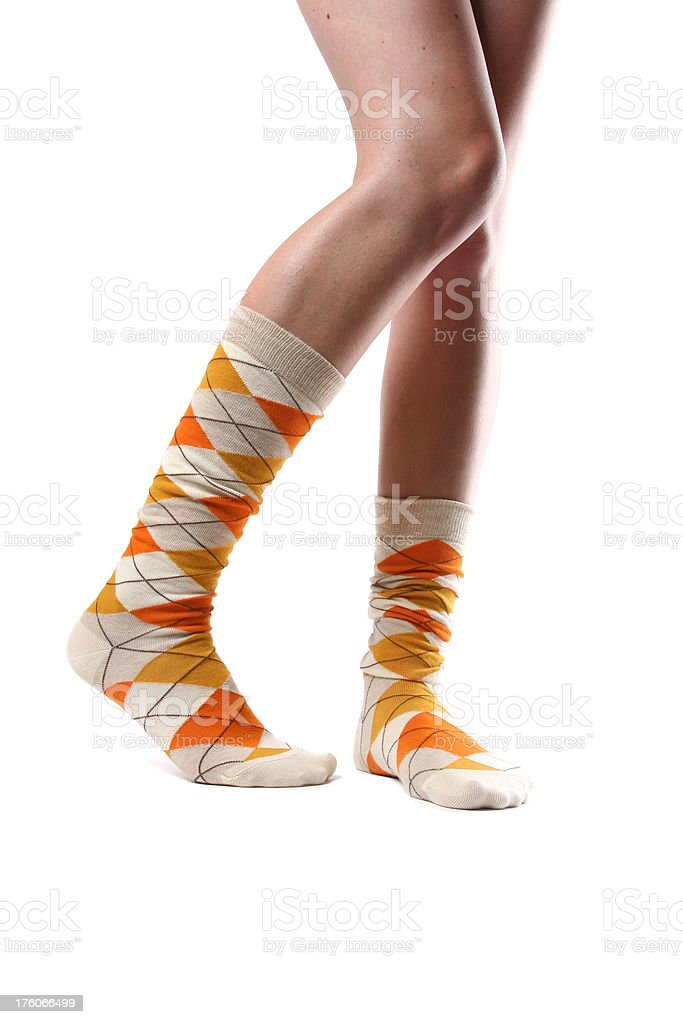 fun socks royalty-free stock photo