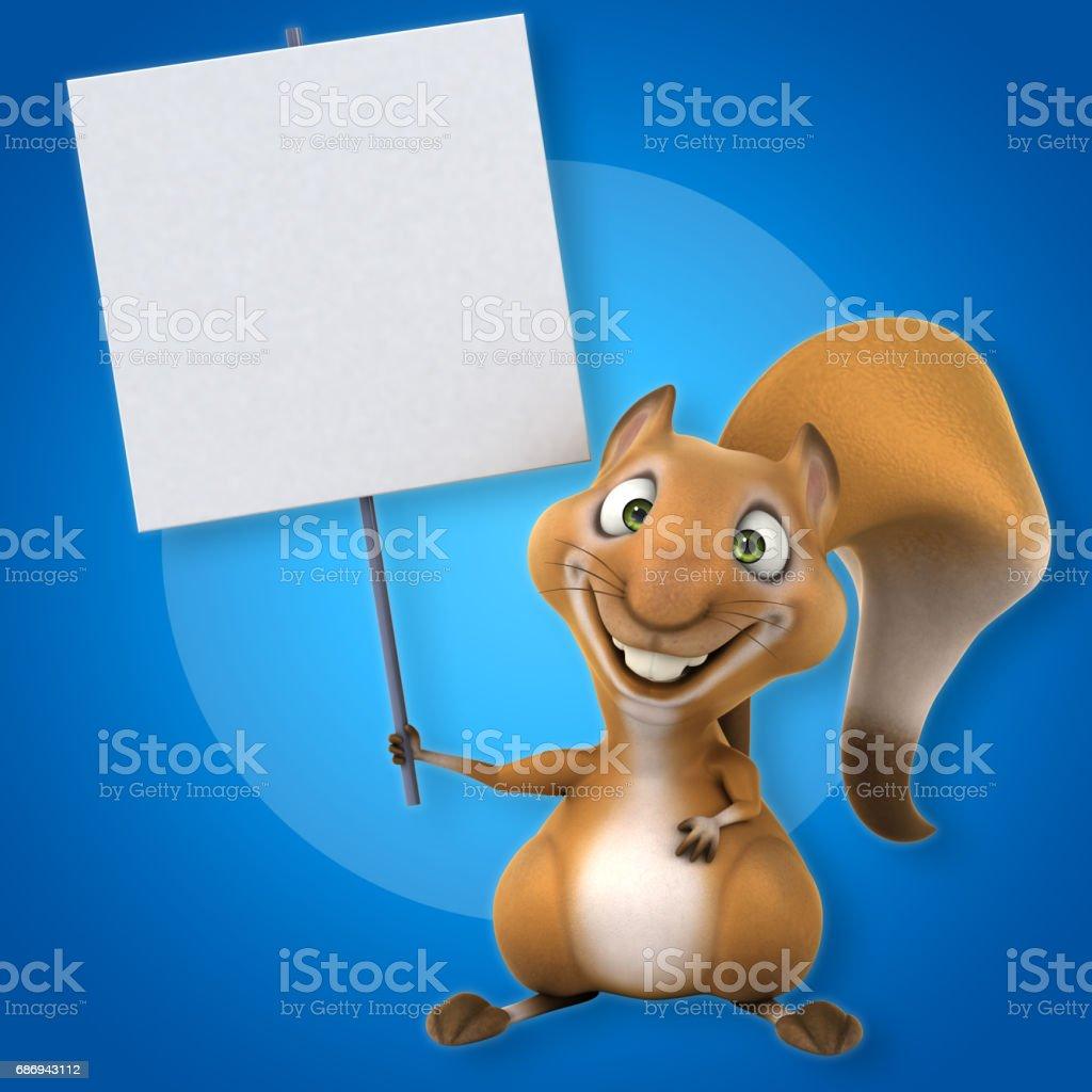 Fun squirrel stock photo