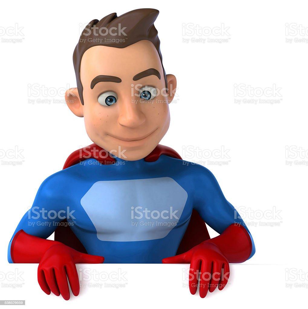 Fun superhero stock photo