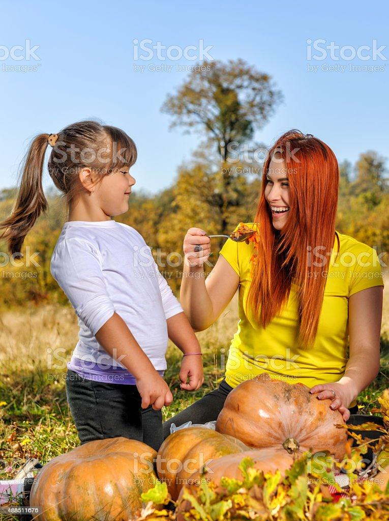 fun time in Halloween stock photo