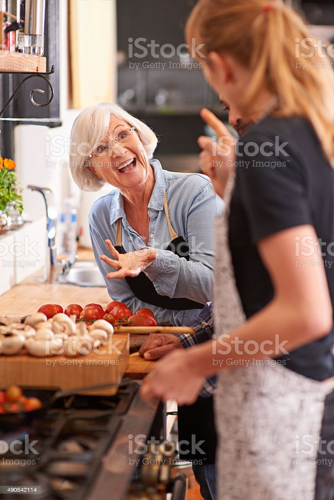 Fun times and great food! stock photo