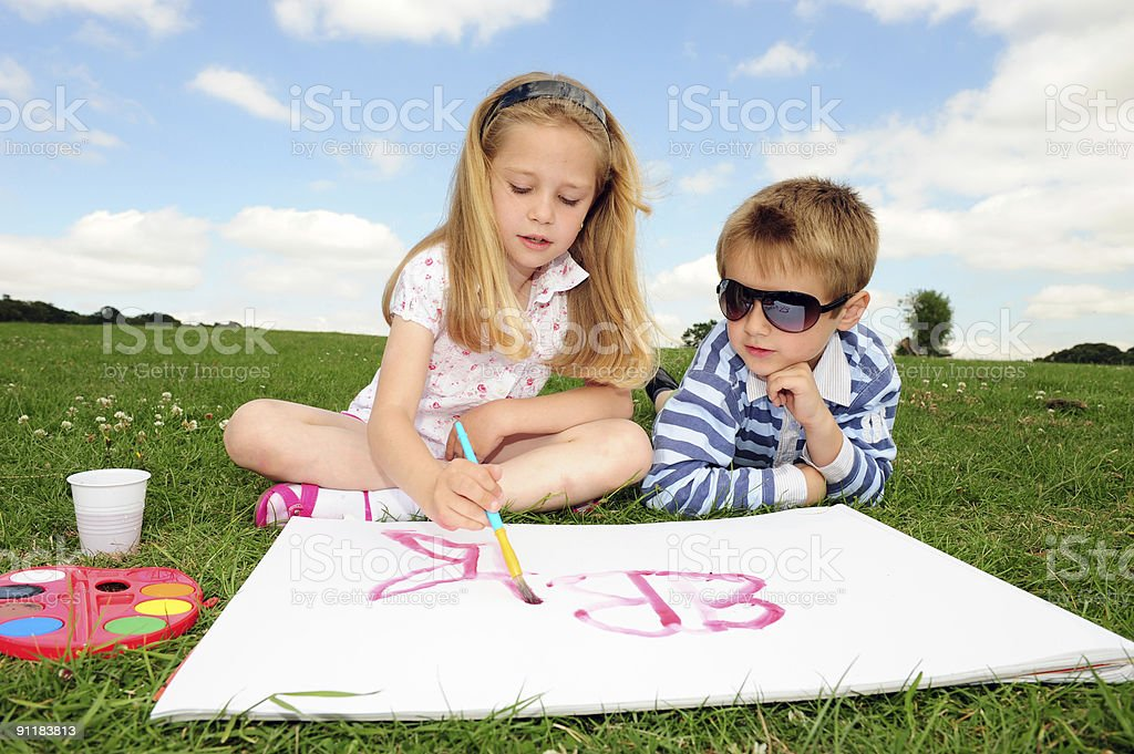 Fun together royalty-free stock photo