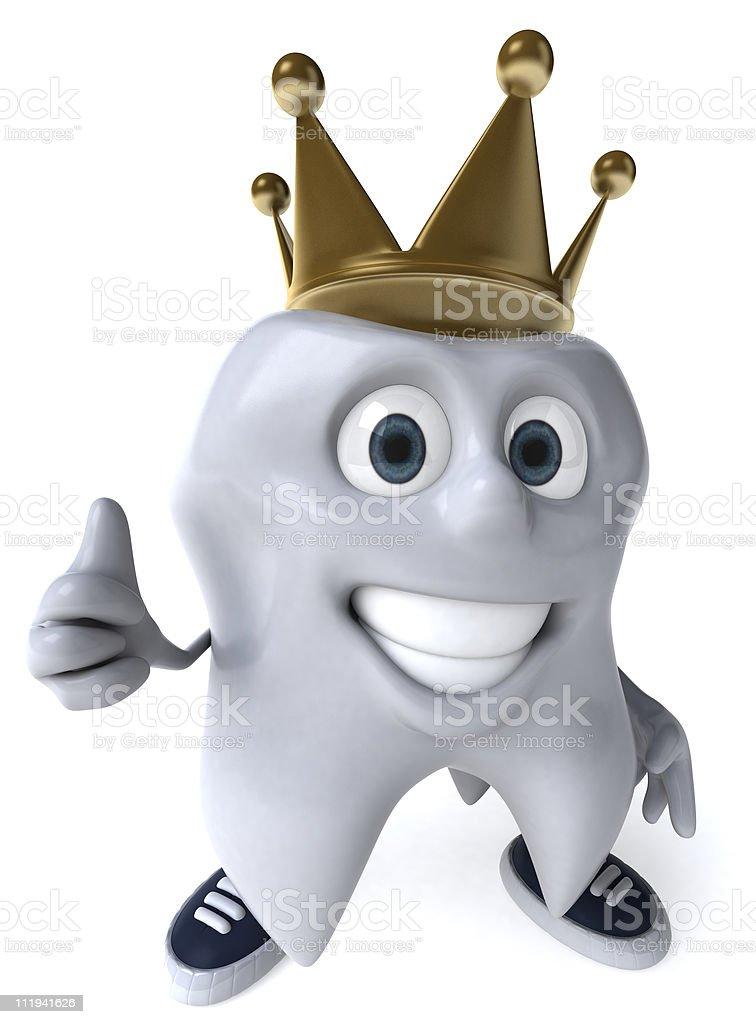 Fun tooth royalty-free stock photo
