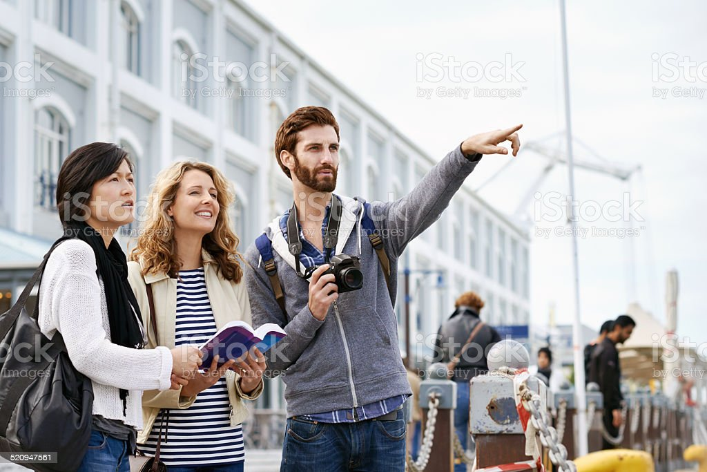 fun travel friends stock photo