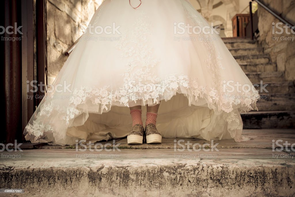 Fun Wedding Day stock photo