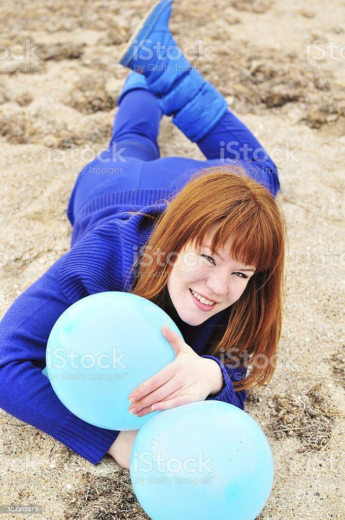 fun with balloons stock photo