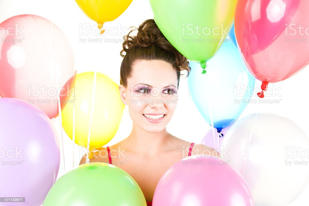 Fun with balloons royalty-free stock photo