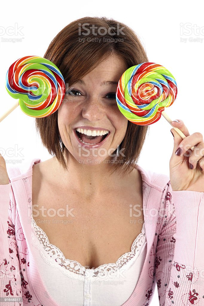 Fun with candy royalty-free stock photo