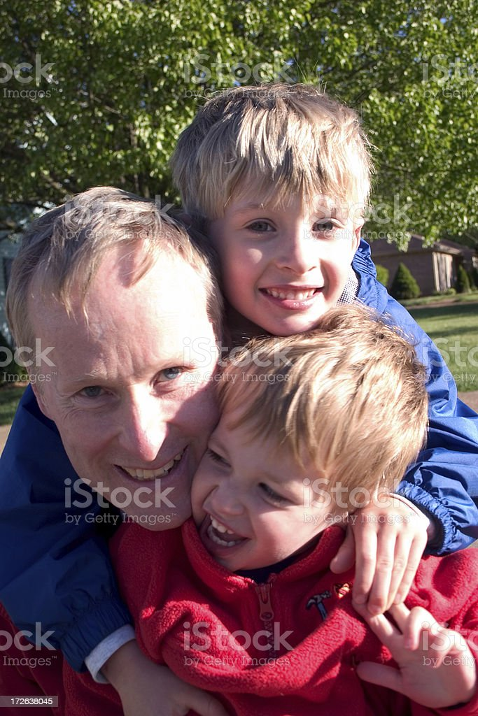 Fun With Dad 2 royalty-free stock photo