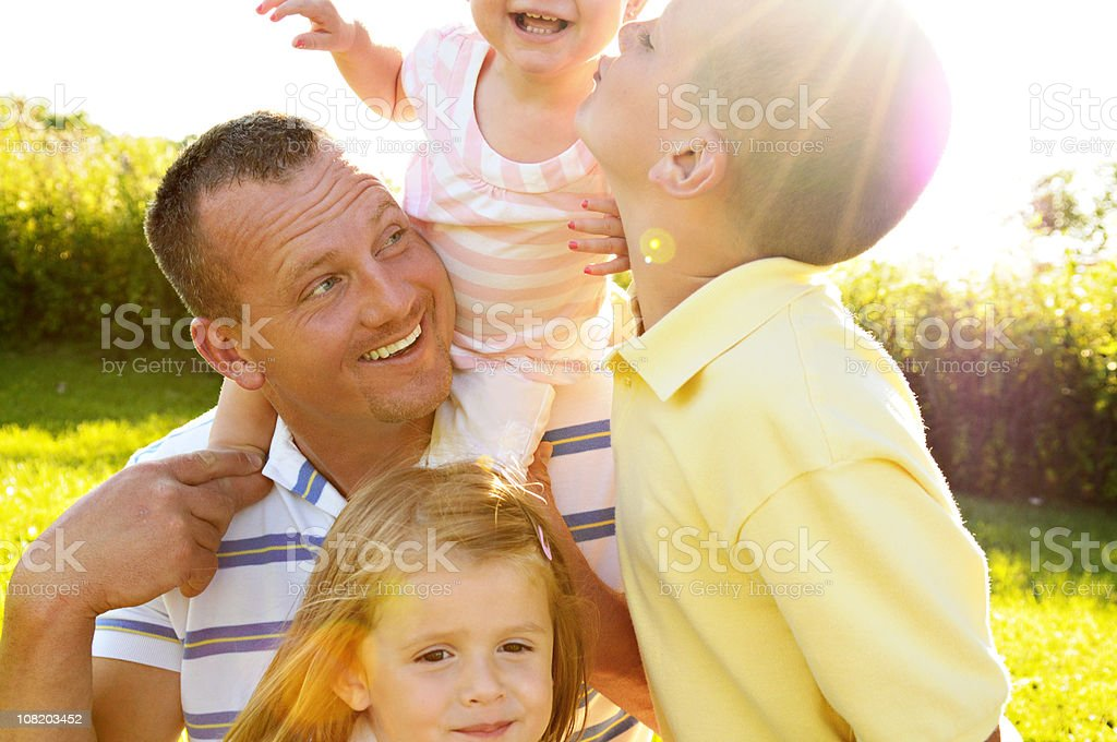 Fun with Daddy! royalty-free stock photo