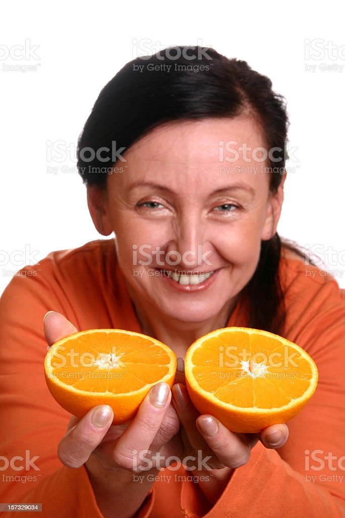 Fun with fruits stock photo