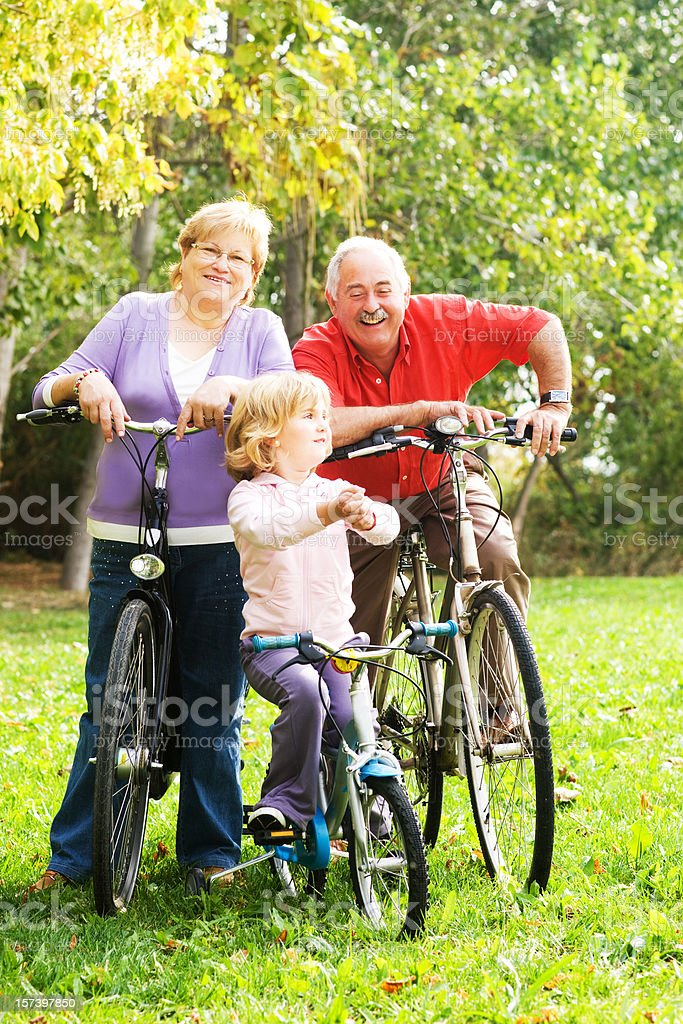 Fun with Grandparents royalty-free stock photo