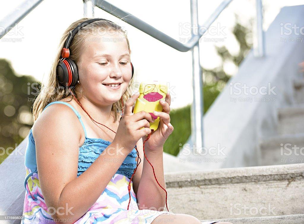 Fun with iPod. royalty-free stock photo