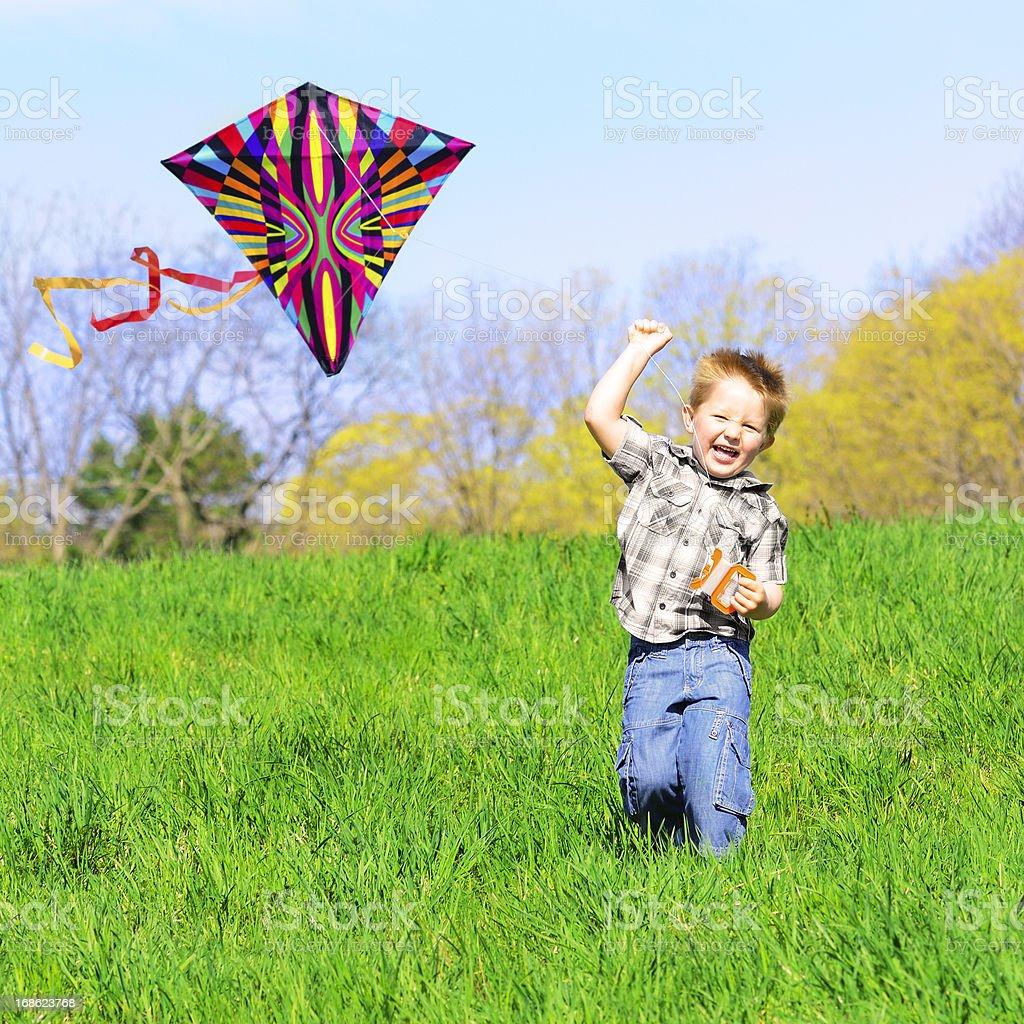 Fun with kite royalty-free stock photo