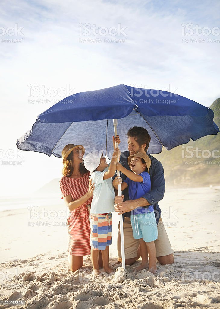 Fun with mom and dad stock photo