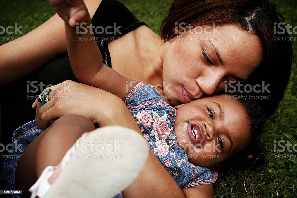 fun with mom stock photo
