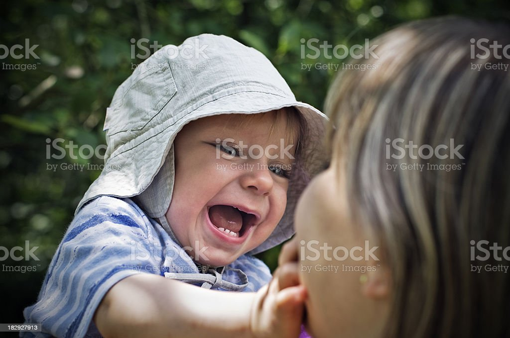 Fun with mommy. stock photo
