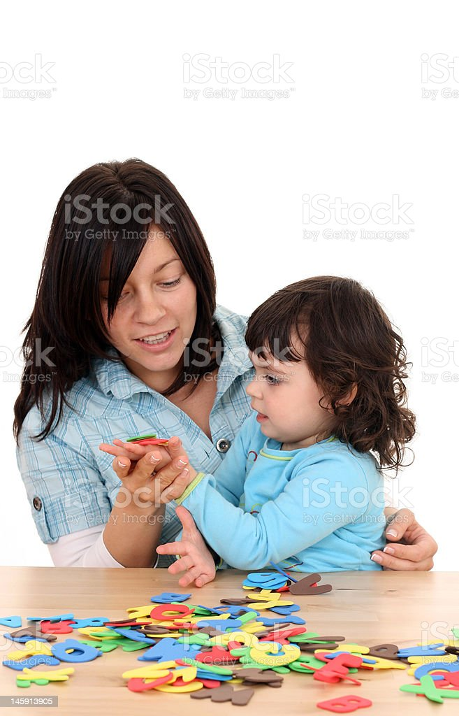 fun with mother royalty-free stock photo