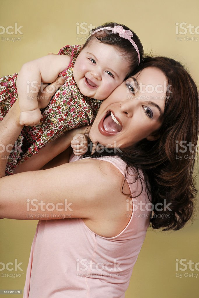 Fun with Mum royalty-free stock photo