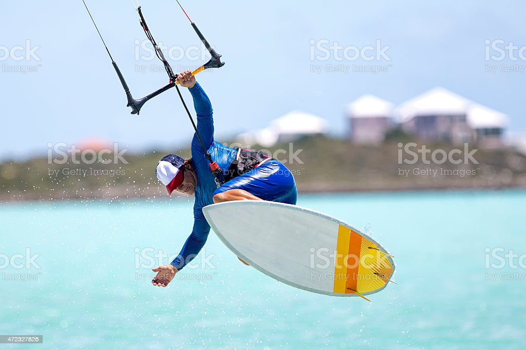 Fun with strapless board stock photo