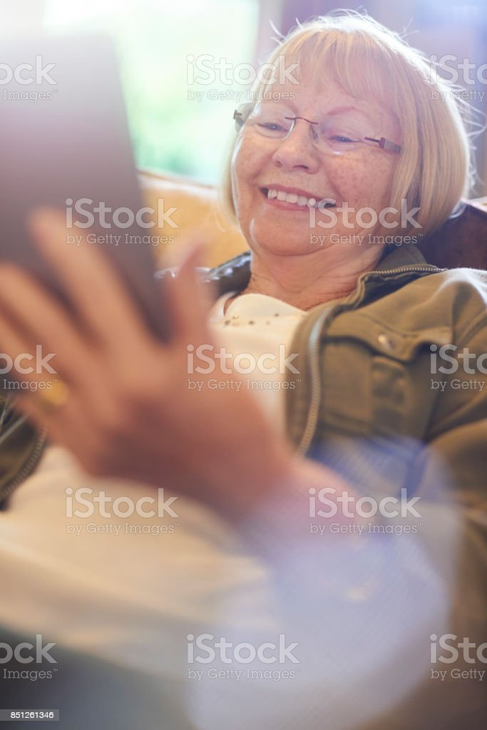 fun with technology stock photo