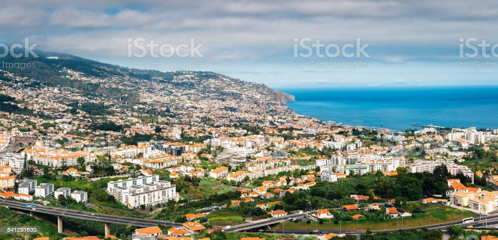 Funchal Panorama stock photo