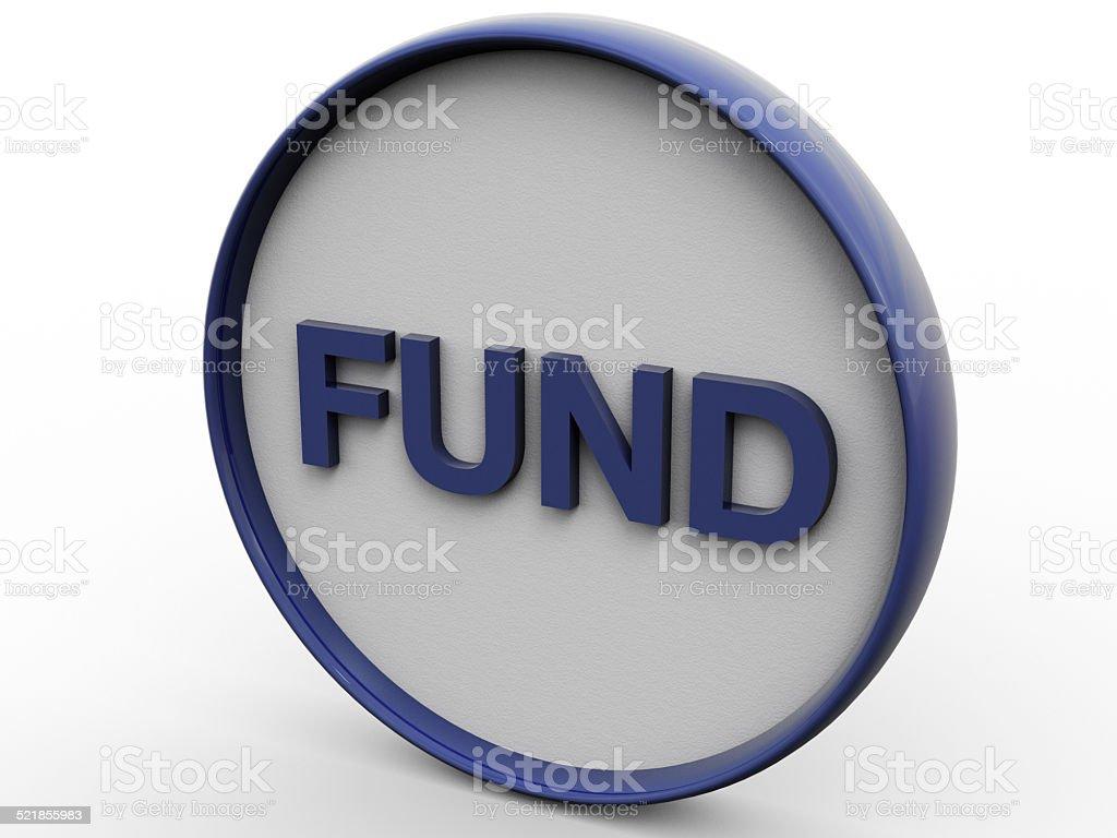 Fund Pure Concept stock photo