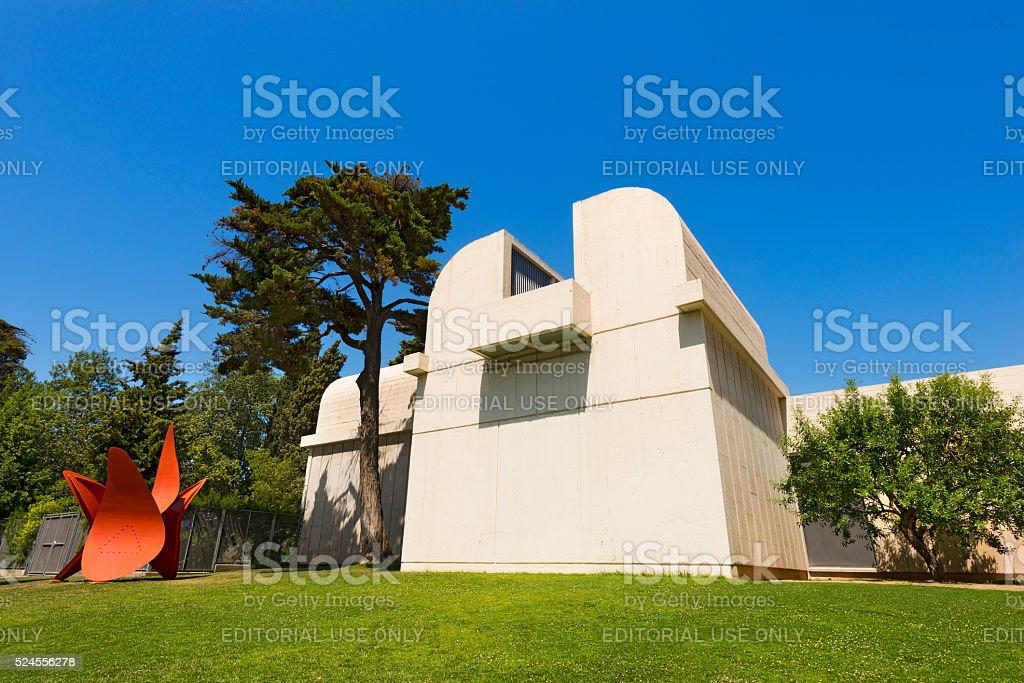 Fundacio Joan Miro - Barcelona Spain stock photo