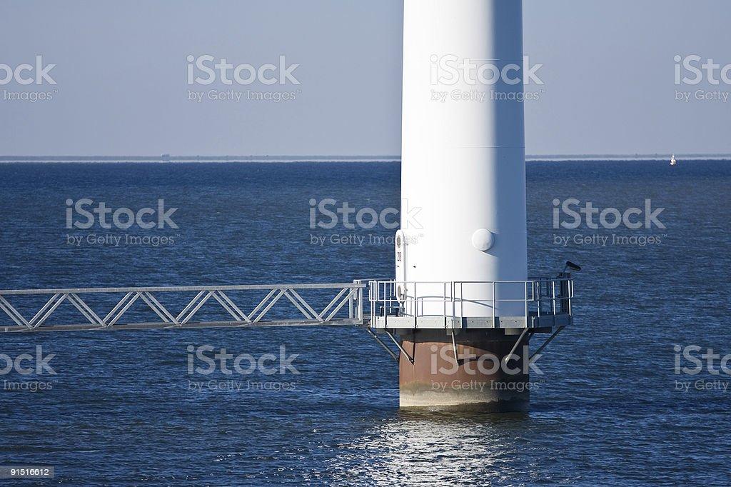 Fundament windmill stock photo