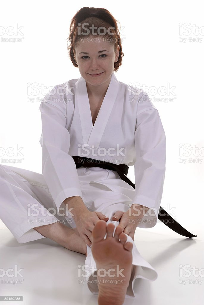 Fundamental stretching royalty-free stock photo