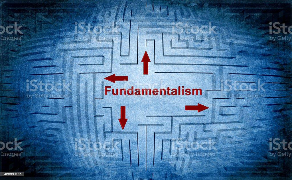 Fundamentalism maze concept stock photo