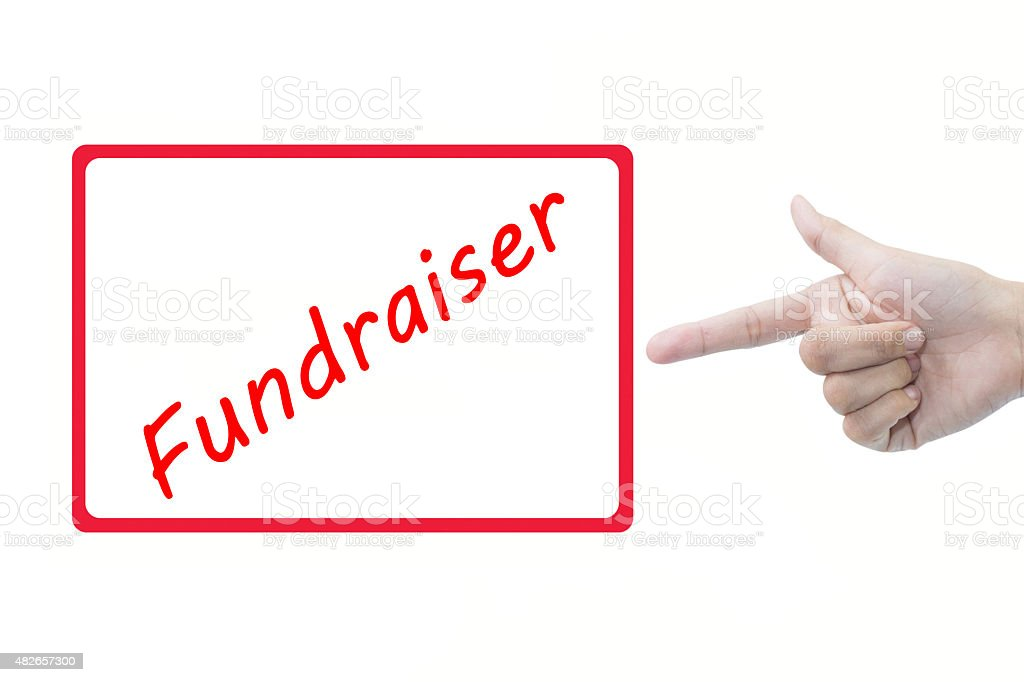 Fundraiser stock photo