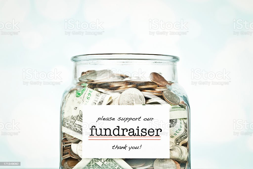 Fundraising Collection Jar stock photo