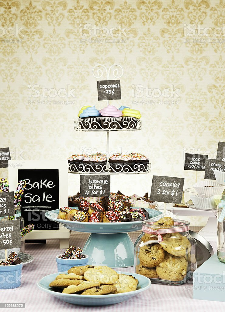 Fundraising with Bake Sale royalty-free stock photo