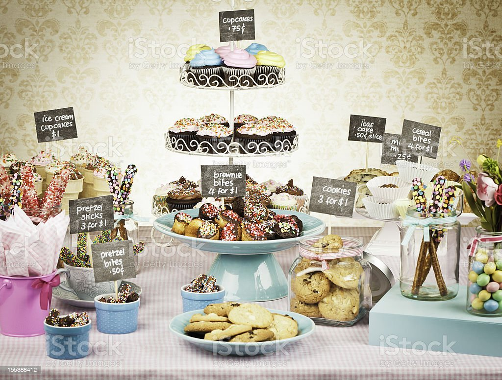 Fundraising with Bake Sale stock photo