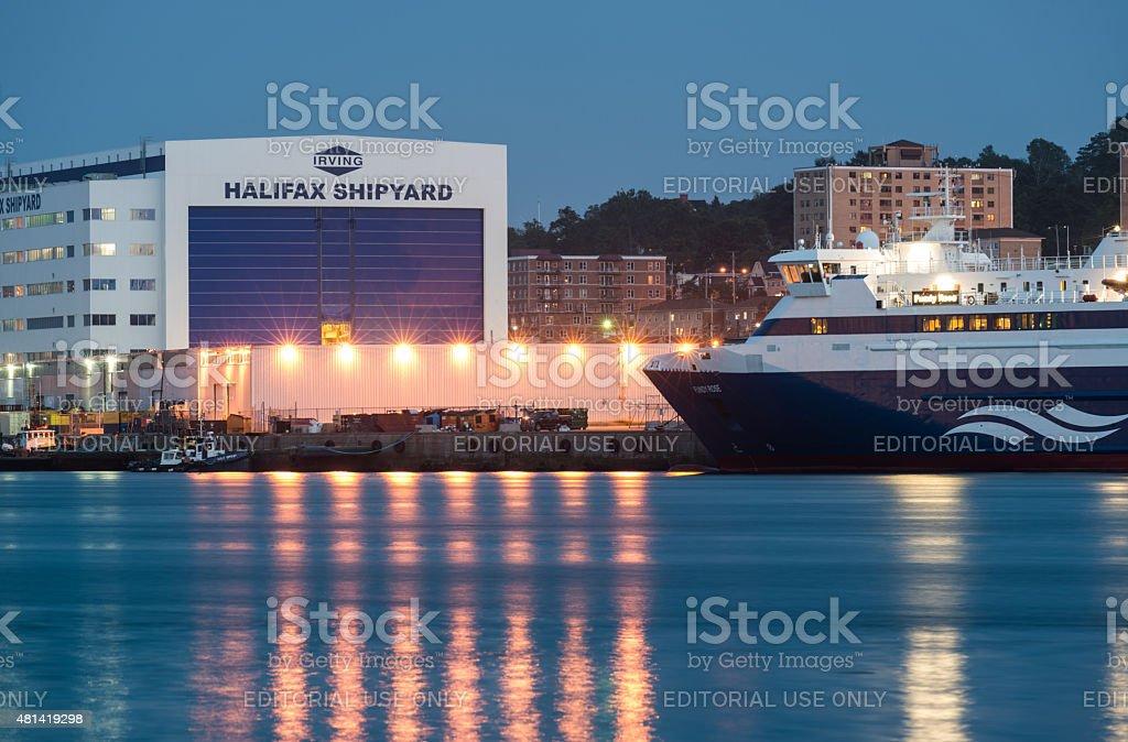 Fundy Rose at Irving's Halifax Shipyard stock photo