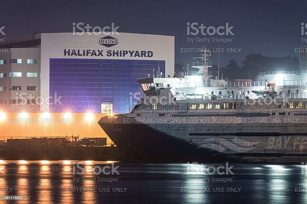 Fundy Rose at Irving's Halifax Shipyard stock photo