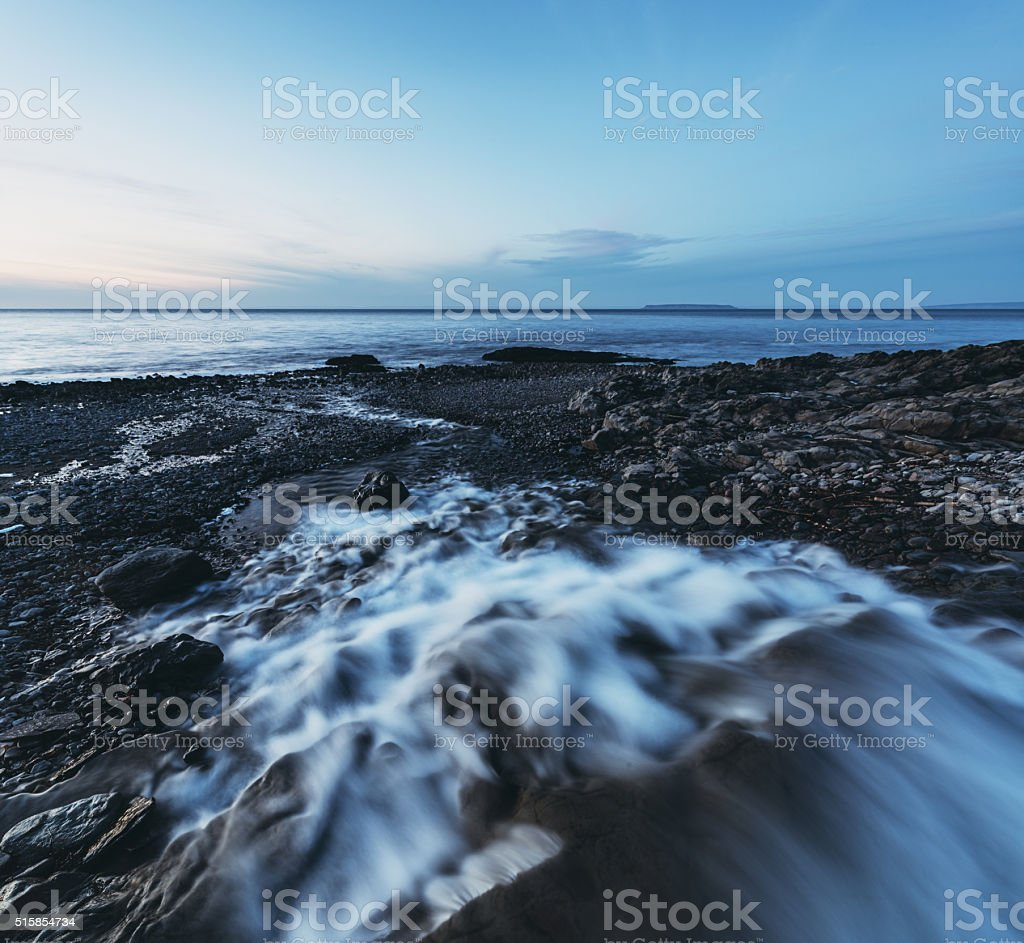 Fundy Shore Waterfall stock photo