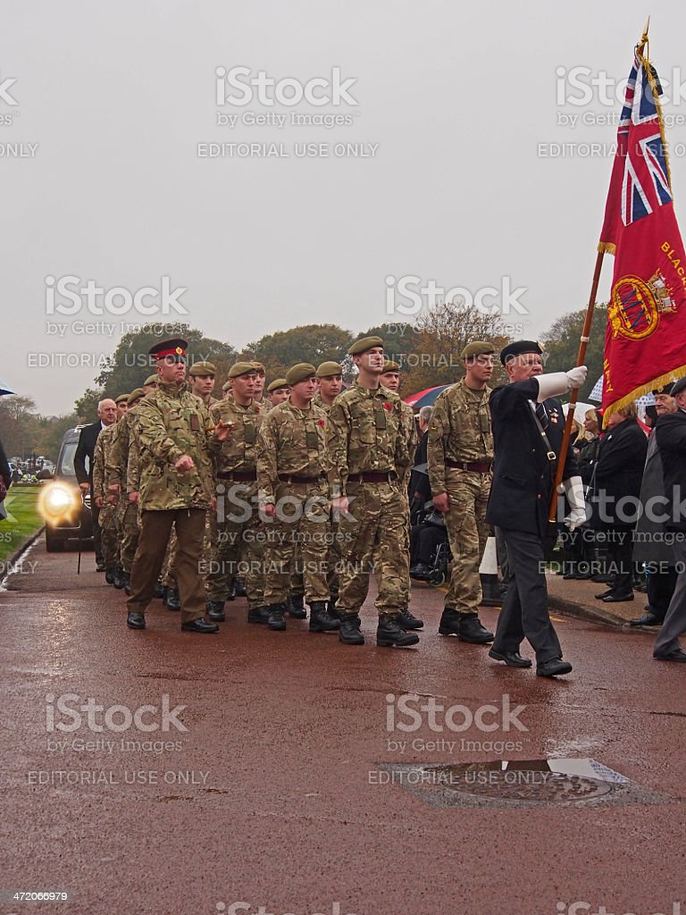 HAROLD JELLICOE PERCIVAL funeral at 11am on Armistice Day stock photo