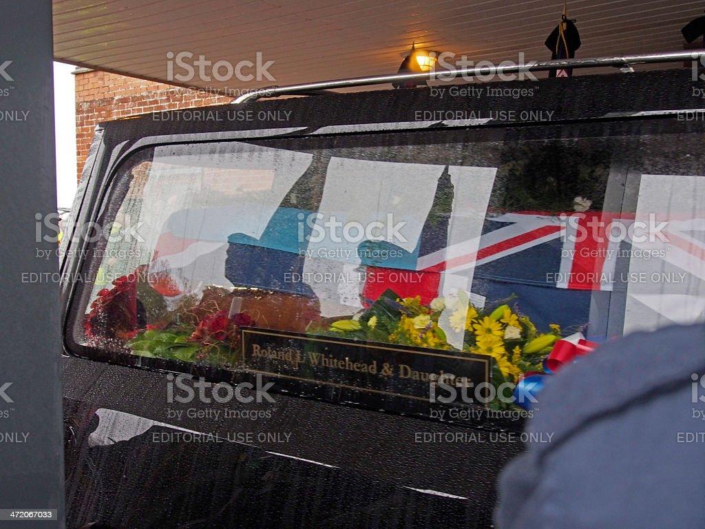 HAROLD JELLICOE PERCIVAL funeral at 11am on Armistice Day stock photo